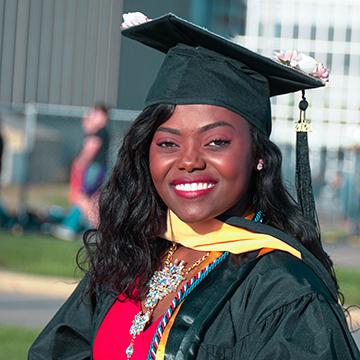 UNI student Ariane Hakizimana
