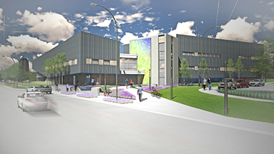 A rendering of the UNI@DMACC campus.