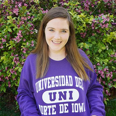 UNI student Savannah Scallon