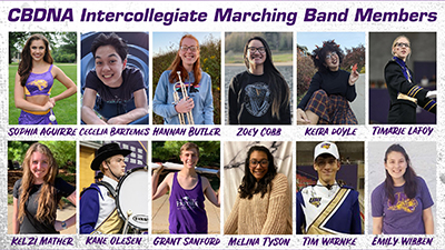 Members of the Panther Marching Band.