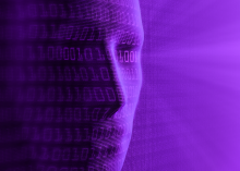artificial intelligent being with data code
