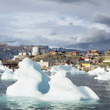 A village in the Arctic.