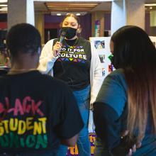 Members of UNI's Black Student Union celebrate Black History Month.