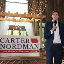 UNI student Carter Nordman runs for the Iowa House of Representatives.