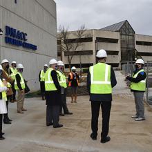 UNI officials tour the new UNI@DMACC campus