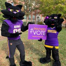 TC and TK ask UNI students to vote.