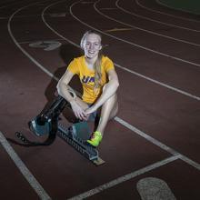 UNI athlete Jessica Heims.