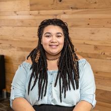 UNI student Mahlia Brown, a Lux Service Award recipient.