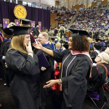 Michelle Hall, 46, and her oldest daughter, MaKayla McDonald, 28, received their diplomas on the same day.