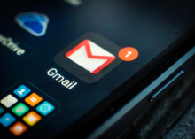 Gmail icon on mobile phone