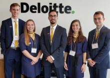 Northern Iowa Accounting degree student participate at Deloitte case competition