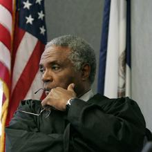 Retired judge and UNI alumnus George Stigler