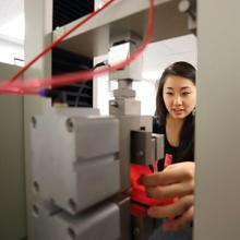 UNI students work in the Textile and Apparel Product Development and Materials Analysis Laboratory.