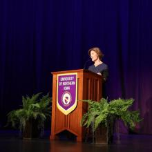 Former First Lady Laura Bush speaks at UNI.