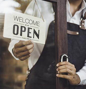 A business opening