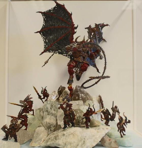 Warhammer Age of Sigmar and Blades of Khorne painted miniatures