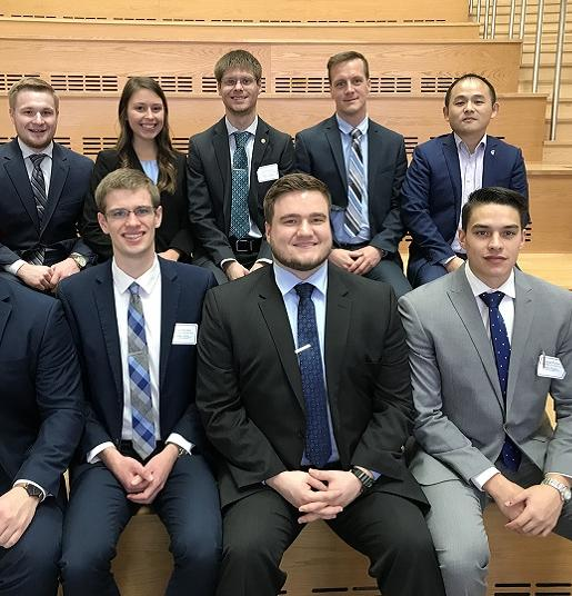 Group photo of the students who competed in the 2018 Stock Pitch Competition