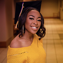 UNI graduating senior Syntesha Burt
